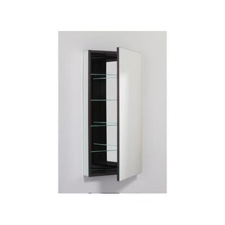 """Robern PLM2040LE PL 19"""" x 39"""" Frameless Medicine Cabinet Left Hinged with Flat Mirror and Electrical Outlet"""