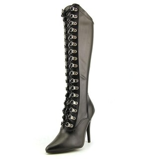 Pleaser Seduce Women Pointed Toe Synthetic Black Over the Knee Boot