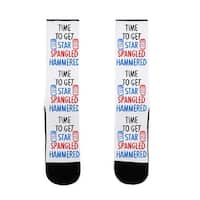 LookHUMAN Time To Get Star Spangled Hammered US Size 7-13 Socks