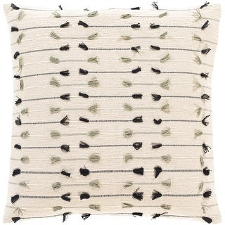 Link to The Curated Nomad Vernon Bohemian Fringe Throw Pillow Cover Similar Items in Decorative Accessories