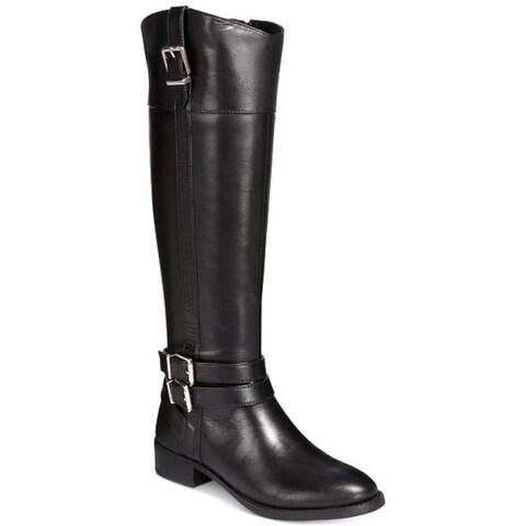 INC International Concepts Womens Frankii Leather Closed Toe Knee High Fashio...