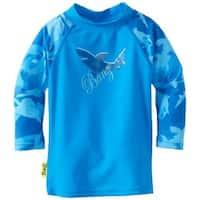 Banz  2013 Long Sleeve Rash Top, Fin Frenzy Blue - Size 12