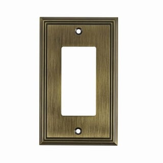 Richelieu BP851 Single Contemporary Rocker Switch Plate from the Decora Collection