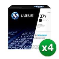 Hewlett Packard 37Y Extra High Yield Black Original LaserJet Toner Cartridge CF237Y (4-Pack) 410A 3-