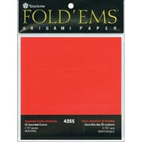 "Fold 'Ems Origami Paper 5.875"" 50/Pkg-20 Assorted Colors"