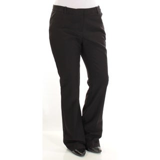Womens Black Wear To Work Boot Cut Pants Size 6