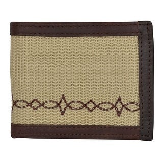 "Georgia Wallet Mens Bifold Work Canvas Woven Pocket Khaki GBW342 - 4 1/2"" x 3 1/2"""