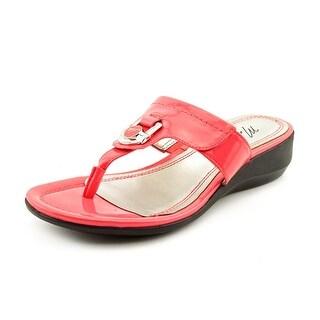 Marc Fisher Arock Women Open Toe Synthetic Pink Thong Sandal