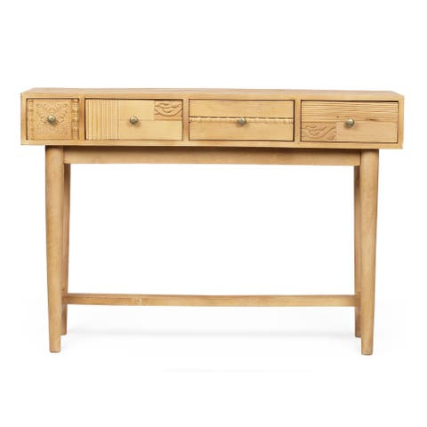 "Warthen Boho Handcrafted 4 Drawer Console Table by Christopher Knight Home - 44.00"" L x 12.00"" W x 30.00"" H"