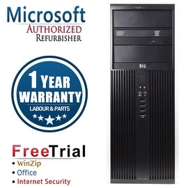 Refurbished HP Compaq 8100 Elite Tower Intel Core I5 650 3.2G 8G DDR3 1TB DVD Win 7 Pro 64 1 Year Warranty
