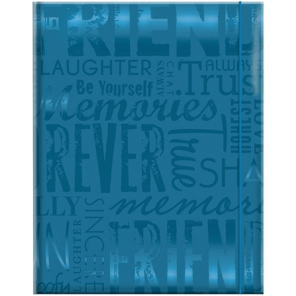 """MBI Embossed Gloss Expressions Photo Album 4.75""""X6.5"""" -Friends - Teal"""
