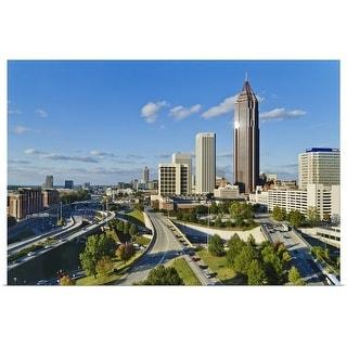 """""""Georgia, Atlanta, View of downtown"""" Poster Print"""