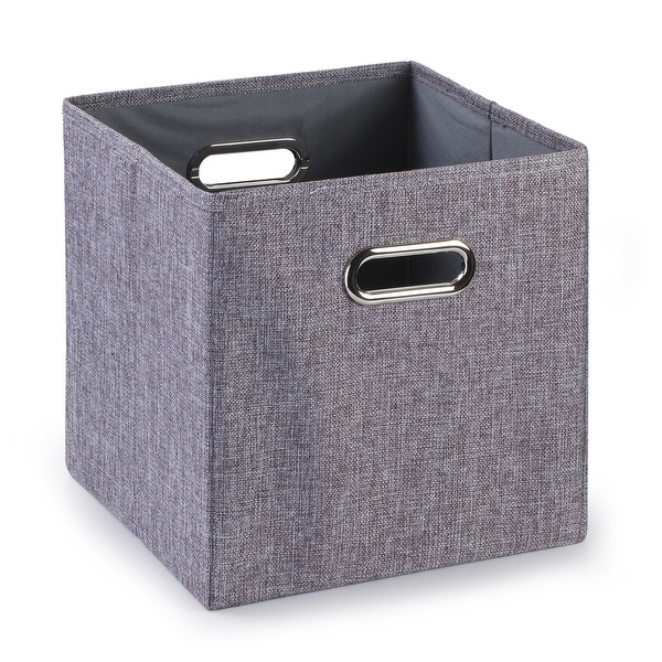 Enova Home Fabric Storage Bins With Handles (Set of 4) - N/A. Opens flyout.