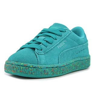Puma Suede Classic Multi Splatter Youth Round Toe Suede Green Sneakers|https://ak1.ostkcdn.com/images/products/is/images/direct/d393a9d3630039c86542ac295a04eb392ea7b793/Puma-Suede-Classic-Multi-Splatter-Kid-Youth-Round-Toe-Suede-Green-Sneakers.jpg?impolicy=medium