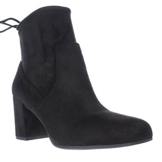 Franco Sarto Pisces Black Lace Ankle Booties, Black