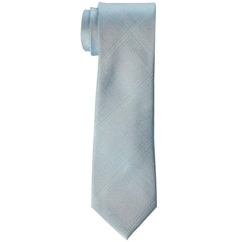 Kenneth Cole Reaction Men's Fine Texture Grid Tie Teal