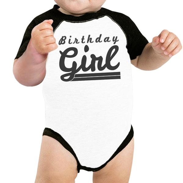 Baby Girl Baseball Bodysuit Cute Black Sleeve Baby Raglan Tee Gifts