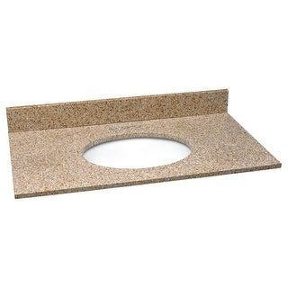 "Design House 552505 61"" Vanity Top with Bowl from the Granite Collection"