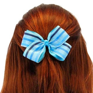 Proud Variegated Pinstripe Jumbo Hair Bow Clip