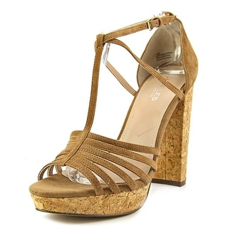 Charles By Charles David Faint Women Open Toe Suede Brown Sandals