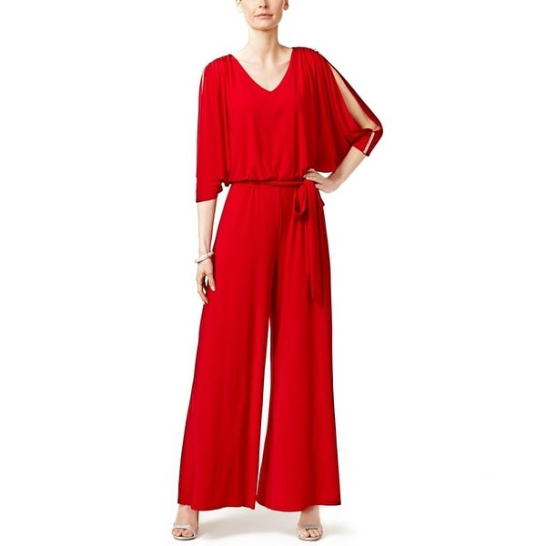 71101862ddd Shop MSK Embellished Cold Shoulder Jumpsuit - xL - Free Shipping Today -  Overstock.com - 20350436