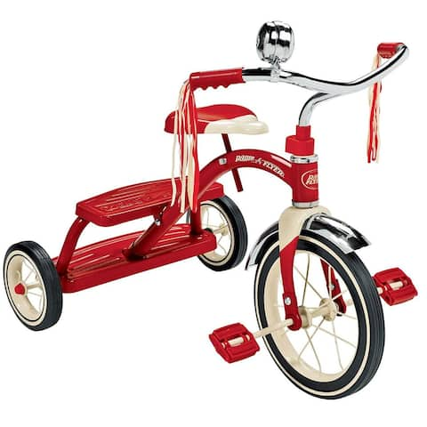 Radio Flyer 33 Classic Dual Deck Kid Toy Tricycle, For Age 2.5 - 5 Years, Red