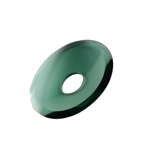 Replacement Waterfall Faucet Green Glass Disc Plate | Renovator's Supply