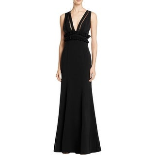 Jarlo Womens Chloe Evening Dress Lace-Trim Sheath