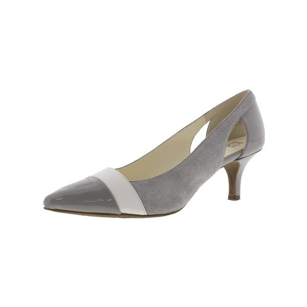 Anne Klein Womens First Class Dress Pumps Leather Pointed Toe