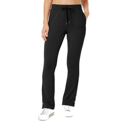 Ideology Womens Pants Gray Size XXL Sweatpants Button-Hem Stretch