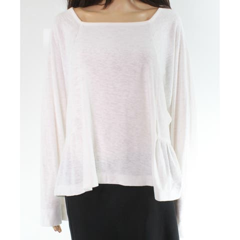 Madewell White Square Neck Dolman Sleeve Women's Large L Knit Top