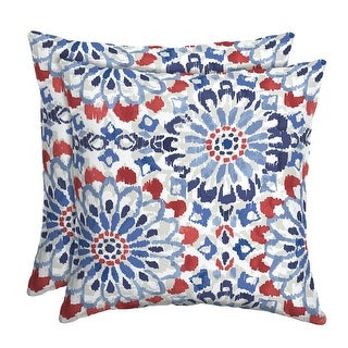 Link to Arden Selections Clark Modern Outdoor Square Pillow (Set of 2) - 16 in L x 16 in W x 5 in H Similar Items in Outdoor Cushions & Pillows