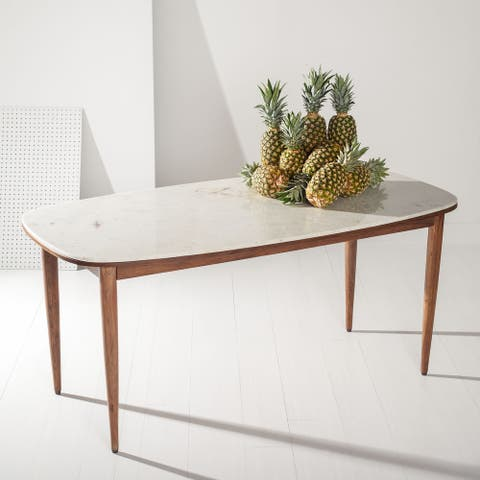 """SAFAVIEH Couture Axcel Marble Top Dining Table - 68.9"""" W x 35.4"""" L x 29.9"""" H"""