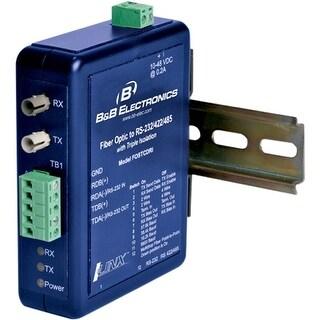 IMC FOSTCDRI B&B INDUSTRIAL 232/422/485 TO FIBER DIN RAIL - 2 x ST Ports - Multi-mode - Rail-mountable, Panel-mountable