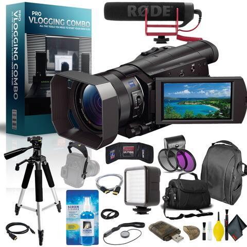 Sony 4K Ultra HD Camcorder Pro Vlogger Combo