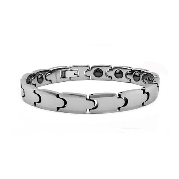 Tungsten Carbide Magnetic Bracelet - 8.5 inches