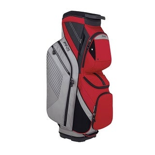 New Ping 2018 Traverse Golf Cart Bag (Silver / Red) - silver / red