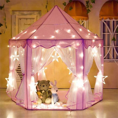 Pink children's princess tent