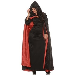 Hooded Velvet Cape with Lining