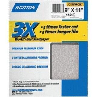"Norton 02636 3X Sandsheet 9""x11"", 220 Grit"