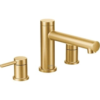 Moen T393  Deck Mounted Roman Tub Filler Trim from the Align Collection (Less Valve)
