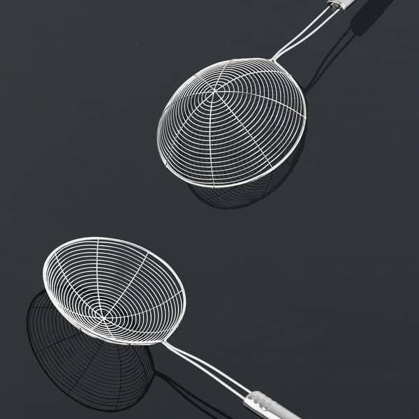 Kitchen Utensil Stainless Steel Mesh Strainer Ladle Spider Skimmer Fry Spoon New