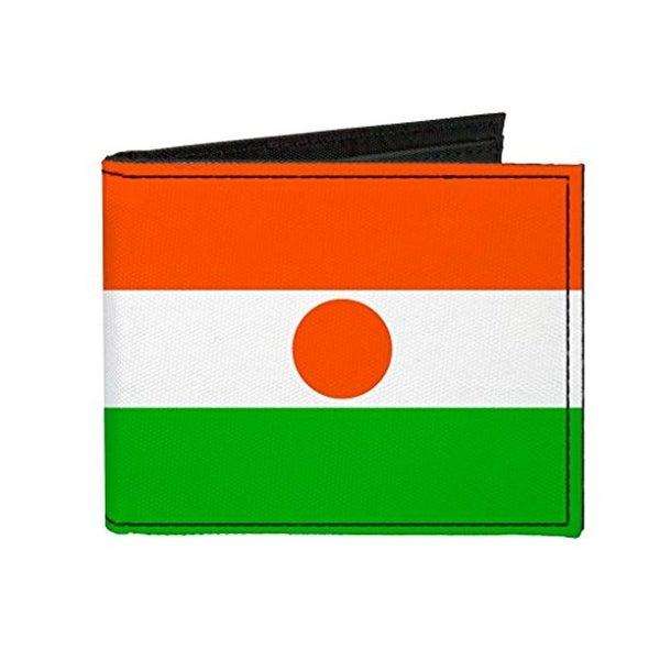 Buckle-Down Canvas Bi-fold Wallet - Niger Flag Accessory