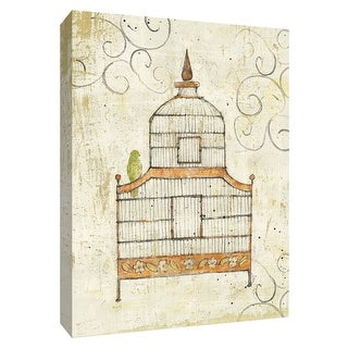 """PTM Images 9-154906  PTM Canvas Collection 10"""" x 8"""" - """"Bird Cage III"""" Giclee Birds Art Print on Canvas"""