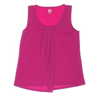 Anne Klein Womens Pleated Sleeveless Blouse