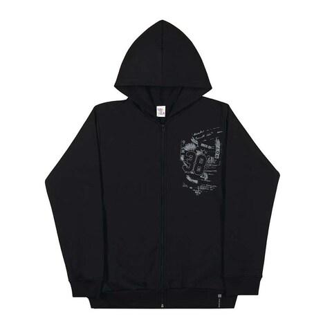 Tween Boys Hoodie Jacket Graphic Zip-Up Sweatshirt Pulla Bulla Sizes 10-16 Years
