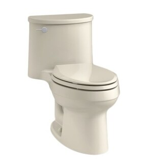Kohler K-3946 Adair 1.28 GPF One-Piece Elongated Comfort Height Toilet with AquaPiston Technology - Seat Included