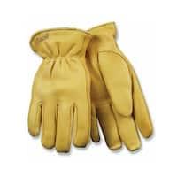Kinco 90HK-L Men's Thermal Lined Deerskin Gloves, Large