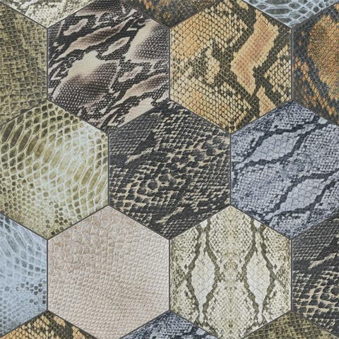 SomerTile 8.625x9.875-inch Reptil Hex Colors Mix Porcelain Floor and Wall Tile (25 tiles/11.56 sqft.)