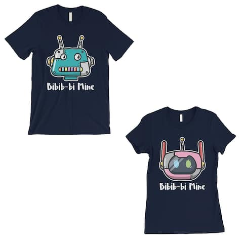 Bibib-bi Mine Matching T-Shirts Navy Valentine's Day Matching Gift